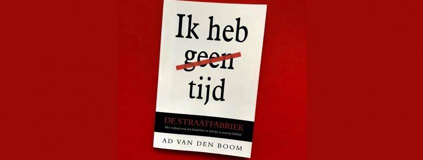 Cover van de roman de Straatfabriek op ronde achtergrond