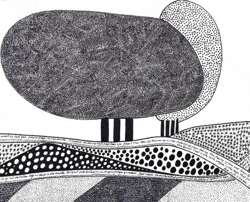 The artvertising Agency landschap in zwart wit